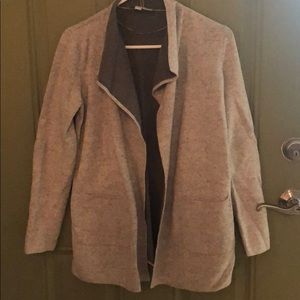 LOFT women's gray cardigan